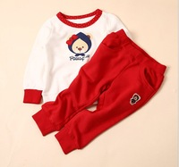 Free shipping In autumn 2014 new children bear 3 color suits children's clothing wholesale trade