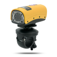 "Waterproof HD Sports Camera ""Cichlid"" - 720p, 8 LEDs, HDMI Output, 140 Degree Wide Angle Lens"