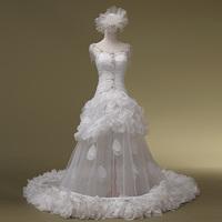 2014 New Arrival Romantic Custom Fashion Hot Sale 2 Floor Bridal Gowns Wedding Dresses Bridalk 01
