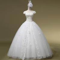 Short Wedding Dress De Noiva Romantic Wedding Dress Princess Bride Slit Neckline Plus Bridalk