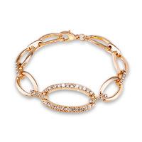 New Fashion 2014 Sparking Austrian Crystal CZ Diamond Gold Bracelet For Women Brand Chain Charm Bracelets & Bangles Love Bijoux