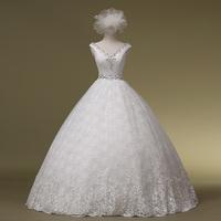 2014 lady New Real Vestido Fashionable Double-shoulder Straps Lace Princess The Bride Wedding Dress Formal Cheongsambrid