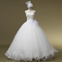 Free Shipping Glamorous A Line Floor Length Pleat Bridal Gowns Standard Code Sleeveless Wedding Dresses Bridalk 01