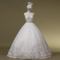2014 New Arrival Sweetheart Bridal Gown Vestido Romantic Heart Tube Top Bandage The Bride Wedding Dress Formal Hs1018bridalk
