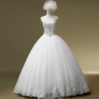 2014 Limited Wedding Dress Custom A Line Floor Pleat Bridal Gowns Code Wedding Dresses Bridalk 01