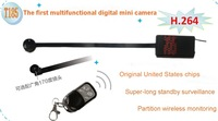 2014 new style MINI DV motion detection 720P HD button camera hidden camera 24hours video 18cm lens 2.4G remote control  H.264