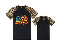 Fashion Boys leather sleeve short Tee shirts brand COKE BOYS basic t-shirt men t shirt street dance clothing plus size
