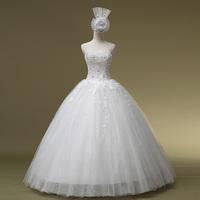 2014 Fashionable Vestido Sweetheart Up Beading New Arrival Wedding Dress Formal Luxury Diamond Tube Top Bandage Qi Hs1028bridalk