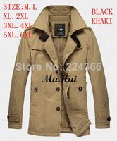 2014 Mens Jacket free shipping men coat brand new winter jacket men trench large size 6XL Coat Slim Fall Outerwear  hood parka