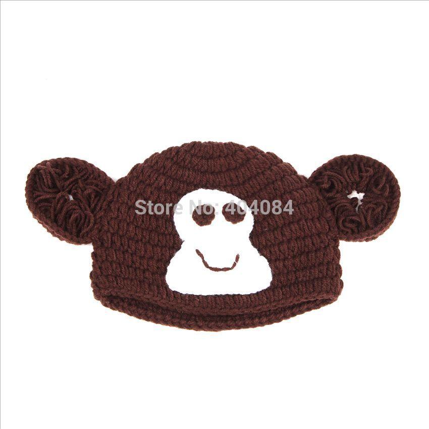 Baby Diaper Cartoon Retail Sock Monkey Hat And Diaper Cover Newborn Set Baby Shower Gift