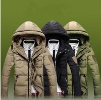 Free shipping 2014 NEW outerwear men cotton-padded jacket  winter men  outdoors  winter jacket  men coat thick coat hood parka