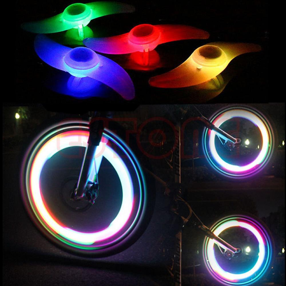 U119 Free Shipping 3 Mode Bike Bicycle Cycling Spoke Wire Tire Tyre Wheel LED Bright Light Lamp(China (Mainland))