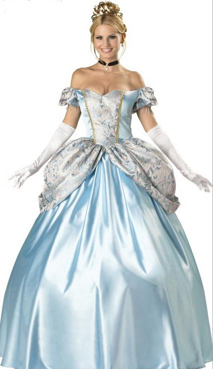 2014New Snow White Halloween dress party drag Cinderella costumes(China (Mainland))