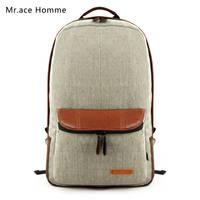 Free shopping 2014 linen solid color backpack school bag double-shoulder children backpacks travel backpack kid bags