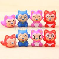 Anime Cartoon Lovely Fox Ahri PVC Figure Toys Dolls 8pcs/set Christmas Gift Child Toys 100% NEW 38649940652 201408H
