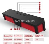 Free Shipping SDY-019 Original Nizhi HIFI Bluetooth Speaker Sardine FM Radio wireless Stereo Sound Box with microphone SDY019