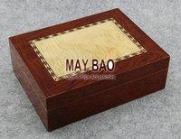 """MAYBAO 9.8"""" Wood Cigar Humidor Cigar Case Wooden Cigar Box With Humidifier &  Hygrometer For 20 Cigars"""