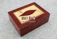 """MAYBAO 9.8"""" Wood Cigar Humidor Cigar Case Wooden Cigar Box With Humidifier &  Hygrometer For 20 Cigars HSB-46"""