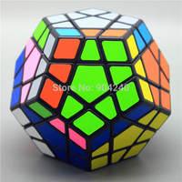 Shengshou  Magic Cube Pentagon Shape Megaminx Speed Twisty 12-axis 3-layer Black Twist Puzzle Educational Toys Children Gift Toy