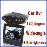 "120 Degree HD Car Video Recorder Car DVR 6 IR LED Night Vision 2.5"" LCD H198 Car Camera Free Shipping"
