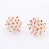 Europe and the United States joker ruili floret ear clip earrings#106430