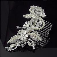 100% Handmade Top Quality  European Pearl Bridal Hair Combs Hairpin Hair Accessories Hair Jewelry Wedding Accessories FS079