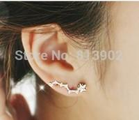 Hot Fashion  jewelery  Super flash Ear nail zircon glittering Constellation design stud earrings