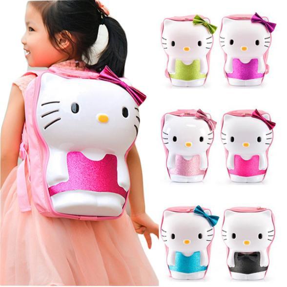 Three-dimensional Hello kitty baby bags children kids girl cartoon school backpack princess shoulder bags(China (Mainland))
