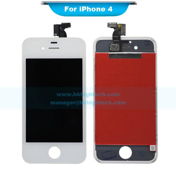 50 stück gute qualität lcd display für iphone 4 gsm digitalisieren touchscreen asselbly Austausch mit schild schwammpad schaum Staub mesh