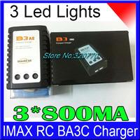 10Pcs/lot! B3 AC E3 2S 3S 3 Led Lights 110-240V Li-po Li-Poly Electricity Balance Charger 7.4v 11.1v RC IMAX Battery B6 3*800MA
