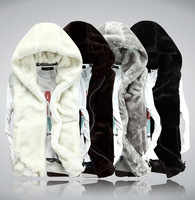 Hooded zipper jacket Men's classic vest Casual coat Luxury Trend Slime fit Free-shipping New 2014 Autumn Winter