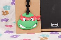 WholesaleTeenage Mutant Ninja Turtles 12pcs PVC luggage tags/  Travel Name Tag