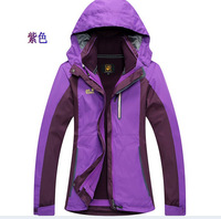 2014 special offer free shipping specials Outdoor Jackets Ladies triple thick piece warm fleece breathable mountaineering