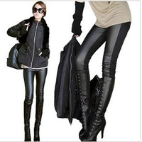 Fashion Thicker autumn and winter PU leather Plus size Pencil stitching leather pants Leggings