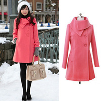 New autumn and winter outfit  wool dust coat  women's clothing trench coats  long woolen thicken  trench coat women F0087
