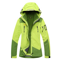 14 free shipping discount outdoor sports warm fleece jacket female genuine two-piece waterproof windproof mountaineering tourism