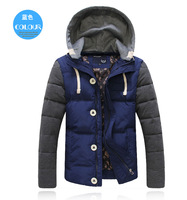 Hooded upset down jacket Men's fashion coat Casual Slim fit Fashioin High quality Free-shipping 2014 Autumn Winter