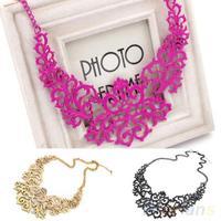 Fashion Women  Hollow Bib Choker Statement Vintage necklaces pendants 03GG