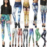 2014 NEW Arrive Punk Gothic Yoga GYM Stylish Galaxy Casual Leggings Sport Pants Legings Sexy Woman's Trousers Universe Leggins