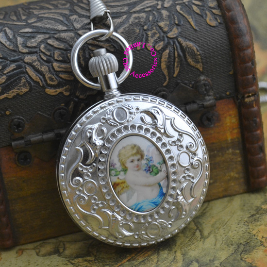 wholesale price top good quality new gift man retro vintage classic silver copper brass case Cupid
