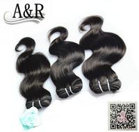 Hot selling AAAA 100% new style no tangle no shedding free shipping 3 pcs body wave human brazilian hair