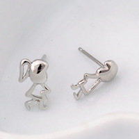 100% 925 Sterling Silver Jewelry Angel Baby Silver Earrings Stud Earrings Christmas Gift Free Shipping
