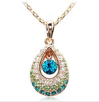 Fashion Austria Crystal & Rhinestone Pendant Necklace & Pendant For Women Jewelry Statement Bijouterie Accessories Gift