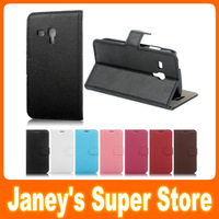 Litchi Stria PU Leather Case for Samsung Galaxy Trend Duos S7562 Fashion Flip Wallet Cover Mixed color Available