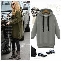 Lanluu Plus Size 2014 Winter & Autum New Casual Hoodies Women Sweatshirts Long Sleeve Coat SQ754