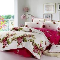 100% Cotton Bedding Set Comfortable Duvet Cover Set Printing Bedclothes Cotton Bed Sheet 4 pcs Home Textile Patchwork Pillowcase