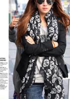2014 New Fashion skull Scarves Muffler spring Autumn shawl scarf for women Apparel Accessories