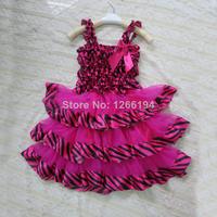 Hot Sale Rose Red Color Princess Dress Kids Frozen Dresses Princess Sofia Dress For 2-6 Lovely Little Girls Free Shipping