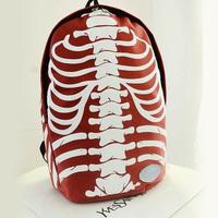 Hot sale2014 new women's men's skull rack large shoulder bag bag shoulder bag men and women  --Free shipping