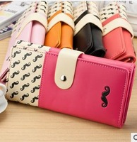 Fashion wallet lady's hand Grow a beard clasp wallet mobile phone packages Han women's Coin Purses wholesale handbags
